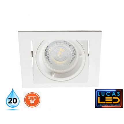 ALREN - IP20 - GU10 - White - Modern LED Downlight / Decorative Indoor Spotlight