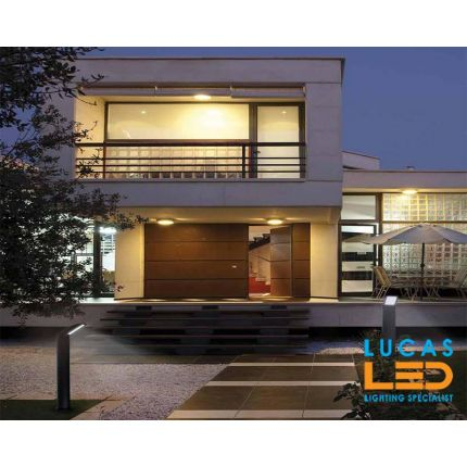 Outdoor LED Garden Light / Drive Way - 9W - 600lm - 4000K - IP54 - Black - Modern SEVIA 800mm- Full LED Fitting