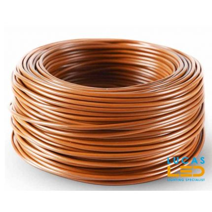 Electric wire LGY brown  for infrared heating film - price per 1m