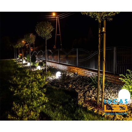 Outdoor LED Ball Lights - E27 - IP65 - Decorative STONO 20cm size - Garden- Path- Lighting Ground- Spike Plug Lamps