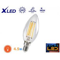 C35 LED Filament Candle bulb Light- 4.5W- E14- 470lm- WW- NW- New Xled Decorative lamp light