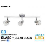 Ceiling fitting Lights - Surface - Modern &  Decorative Home Lamp GLASO 3L - glass lampshades - 3 x G9 LED - IP20