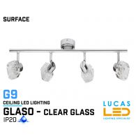 Ceiling fitting Lights - Surface - Modern &  Decorative Home Lamp GLASO 4L - glass lampshades - 4 x G9 LED - IP20
