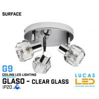 Ceiling fitting Lights - Surface - Modern &  Decorative Home Lamp GLASO L3 - glass lampshades - 3 x G9 LED - IP20