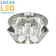 Crystal ELLI LED - G4 bulb max 20W - IP20 - Decorative LED Lamp - Recessed ceiling lighting fitting