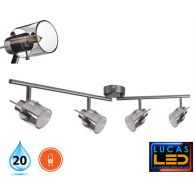 LED Surface Ceiling Light - G9 bulb (4x max35W) - IP20 -lighting fixture- Modern Industrial lamp EVELI L4