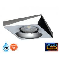 LED Spotlight - recessed light - GU10 - IP20 - BONIS Chrom/Silver