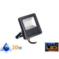 Outdoor LED Floodlight- 20W- IP44- 1600lm- 4000K Natural White- ANTOS- Black