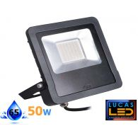 Outdoor LED Floodlight- 50W- IP44- 4000lm- 4000K Natural White- ANTOS- Black