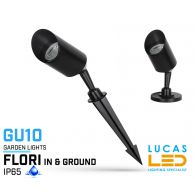 LED Spike lamp  - Gu10- IP65 - FLORI- in ground or surface mounted outdoor garden landscape light