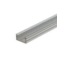Anodised LED Surface Profile Fose01 for LED strips Use, 2 meter , Click&Go ,SET end caps & handle ,