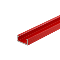 RED LED Surface Profile Fose01 for LED strips, 2 meter , Click&Go ,full SET shade & end caps & handle