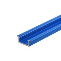 Blue LED Recessed Profile Fose02 for LED strips , 2 meter , Click&Go ,SET end caps & handle