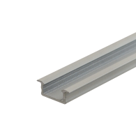 WHITE LED Recessed Profile Fose02 for LED strips , 2 meter , Click&Go ,SET end caps & handle