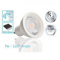 GU10 LED Bulb - 7W - viewing angle 120 ° - PRO LED Light source