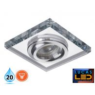 MORTA 24mm - IP20 - GU10 - Vertical adj 30° - Decorative recessed LED Spotlight, glass ring