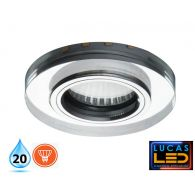 SOREN - IP20 - GU10 - Modern Recessed LED Spotlight with LED Strip in WW & CW colour - Ring shape