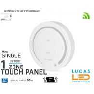 LED Touch Panel Switch •Single LED Strip • Dimmer • MiBoxer • FUT087 • 1 zone • 2.4G • Wireless • Smart • 2 x AAA •