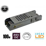 LED Triac 0/1-10V  Dimmable Driver Power Supply • 100 watts • 4.2A • DC 24V for LED Strips •