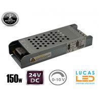 LED Triac 0/1-10V  Dimmable Driver Power Supply • 150 watts • 6.25A • DC 24V for LED Strips •