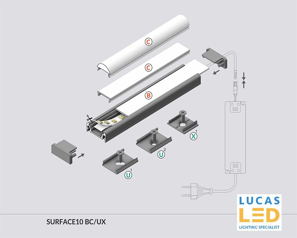 Specification LED Profile Surface 10