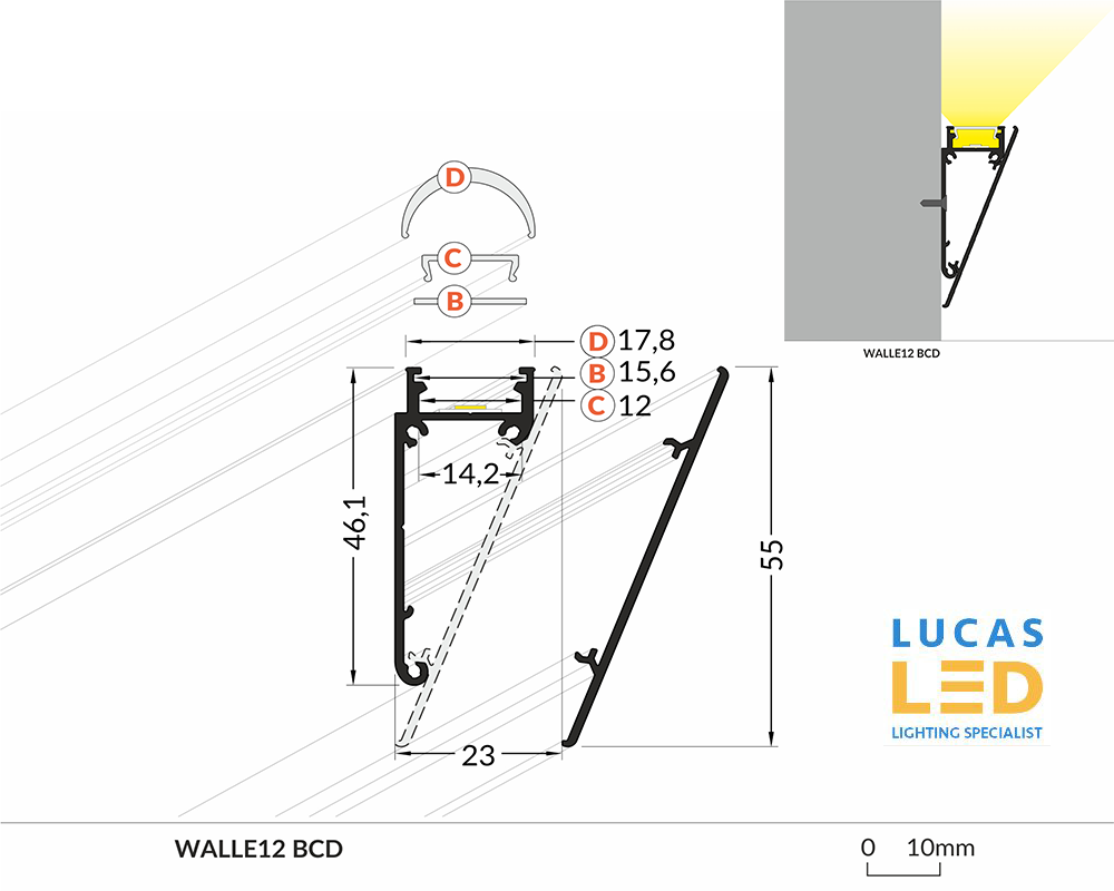 Specification LED Profile Walle 12
