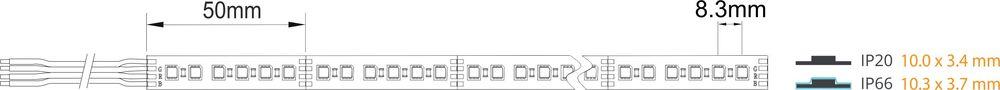 rgb-led-strip-24V-120-leds-cutting-dimrnsion-waterproof-IP68-price-ireland-cork-uk