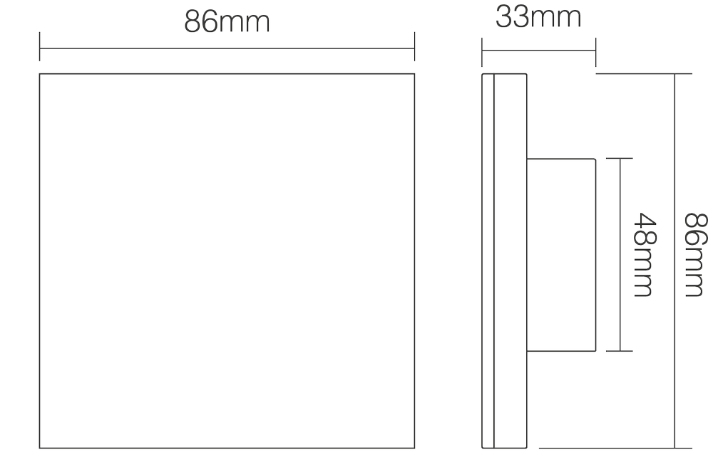 Specification & Dimensions LED Touch Panel