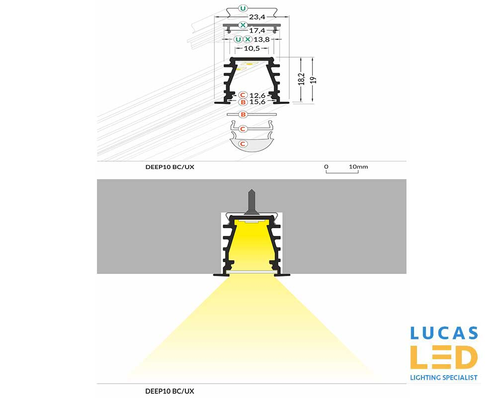 Specification LED Profile DEEP 10