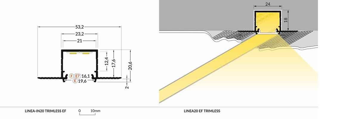 Specification LED Profile TRIMLESS